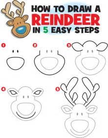 how to draw a reindeer kid scoop