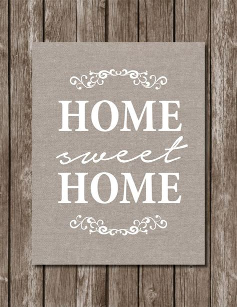 home sweet home printhome decorxinstant