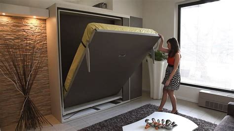 smart space saving bed hides a walk in closet underneath metropolis wall bed milano smart living youtube