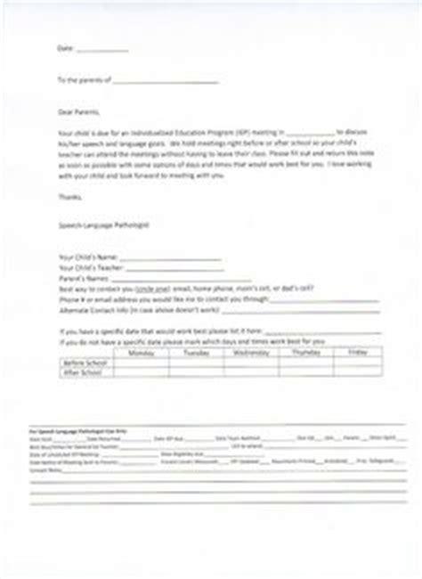 Parent Letter Requesting Iep Slp Parent Communication Forms On Parent Letters Letter