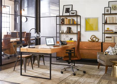 west elm industrial desk west elm workspace office furniture design milk
