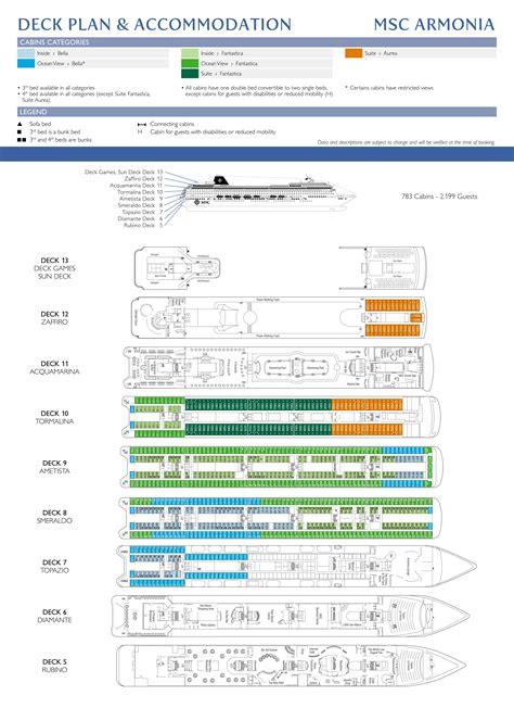 msc armonia deck plan msc armonia cruisetour