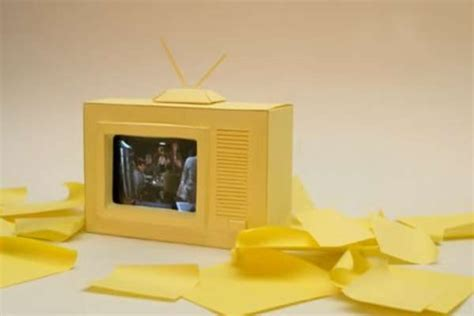 Papercraft Tv - paper thin iphone stands paper iphone tv set