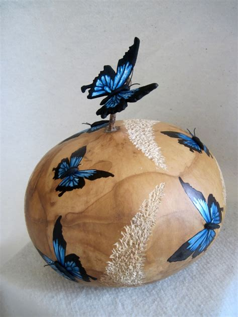gourd crafts 95 best gourds butterfly images on gourd