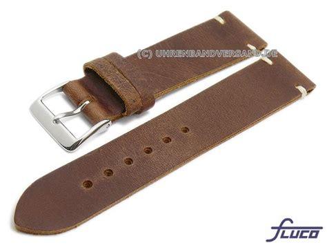 Leder Glatt Polieren by Uhrenarmband Rodeo 22mm Mittelbraun Leder Glatt Matt Helle