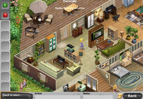 house layout for virtual families 2 vf2 completed furnished and decorated rooms last day