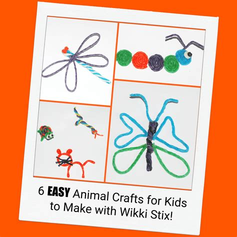 easy animal crafts for easy animal crafts for to create with wikki stix