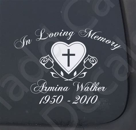 Memorial Stickers For Car Windows