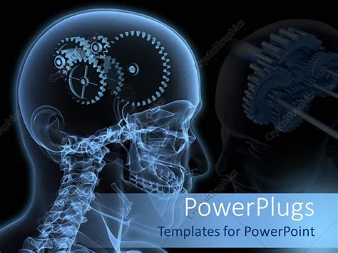 powerpoint templates brain powerpoint template the depiction of gears instead of