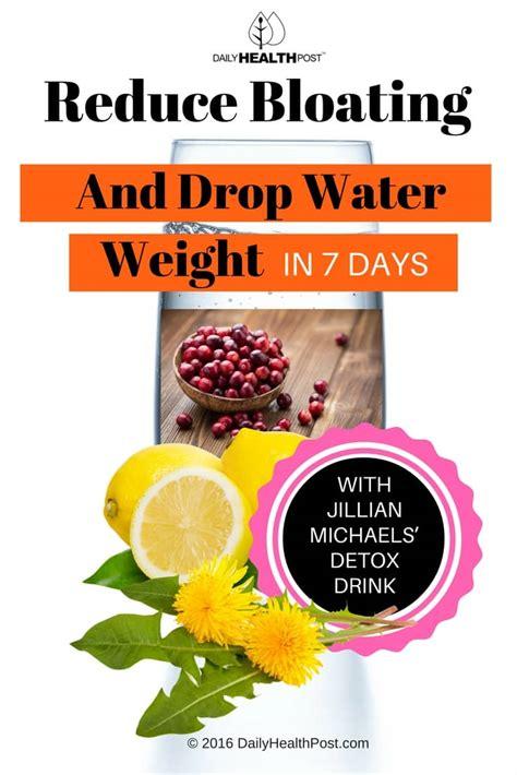 7 Day Detox For Bloating by Jillian Micheals Detox Water Recipe