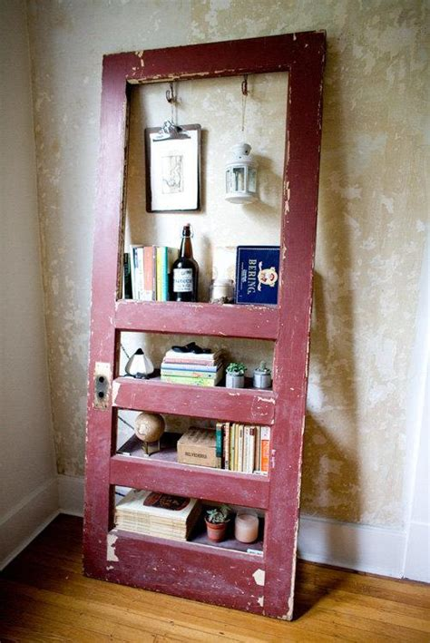 vintage door repurposed bookshelf ruby is by