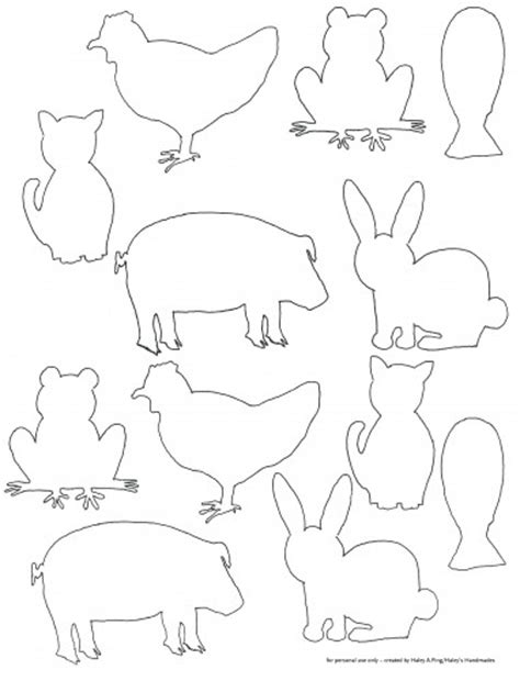 template farm free printable farm animal silhouette templates for