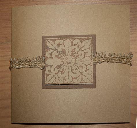 Handmade Paper Wedding Invitations - handmade kraft paper wedding invitation with burlap accent