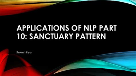 pattern nlp library applications of nlp part 10 by ms rukmini iyer