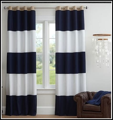 Navy Blue And White Curtains Navy And White Striped Curtains Curtain Menzilperde Net