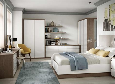 fitted bedroom  high gloss  oak wood finish