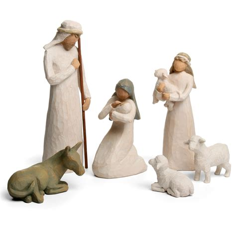 figure nativity willow tree nativity set 6pce s of kensington