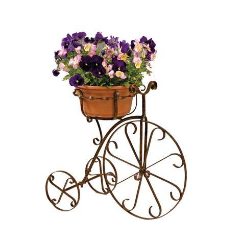 deer park metal bike planter 10 in pot holder bk101x
