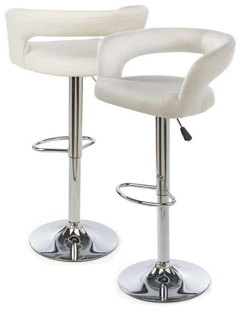 White Leather Bar Stool White Leather Bar Stool Height Adjustable W Backrest