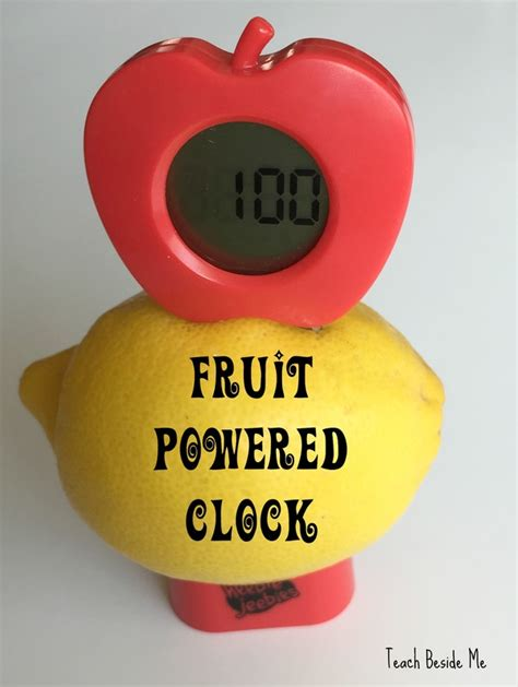 Fruit Powered Clock by Lemon Battery Experiment Teach Beside Me