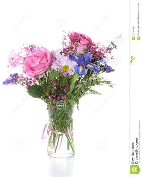 Bunch Of Flowers In A Vase by Bunch Of Flowers In Vase Isolated Stock Photos Image