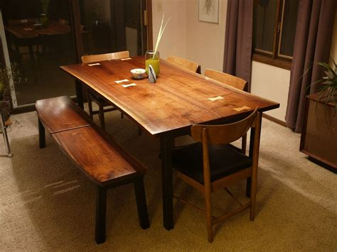 Custom Made Dining Room Furniture by Custom Modern Walnut Dining Set With Maple Inlay By Tree