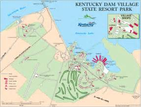 Kentucky State Parks Map by Kentucky Dam Village State Resort Park Map Gilbertsville