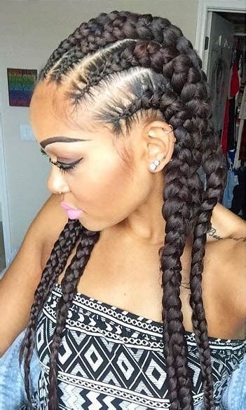 big cornrow hairstyles for black women with bangs all hair makeover reasons why you should get big cornrow