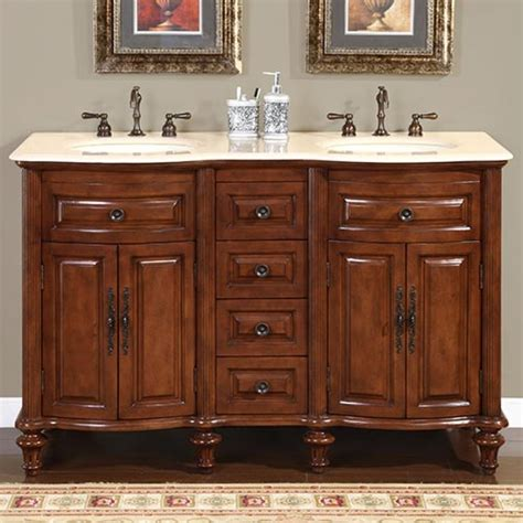 double sink bathroom vanity  cream marfil marble uvsr