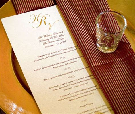 Come With Me Wedding Menu Dessert by Day Of Wedding Menu Wording How To Word Your Wedding Menu