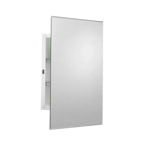 Frameless Cabinet Doors by Zenith 16 In X 24 In Frameless Mirrored Swing Door