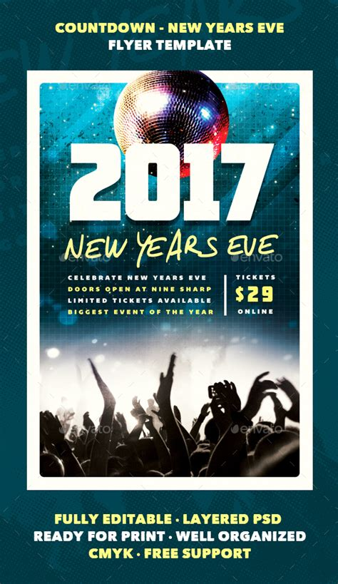 Countdown New Years Eve Flyer Template By Furnace Graphicriver Countdown Poster Template