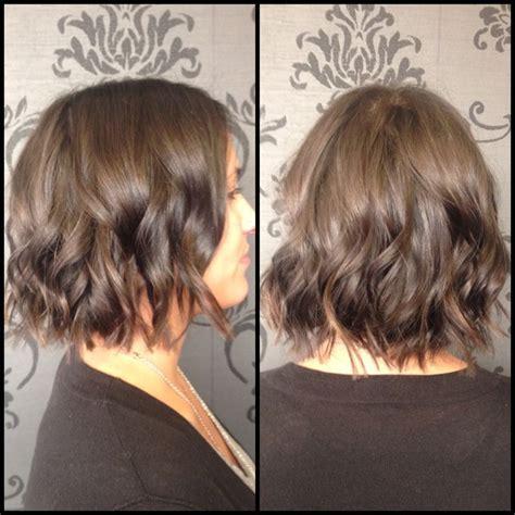 short bob curls with curling iron short hair textured bob bob waves flat iron waves
