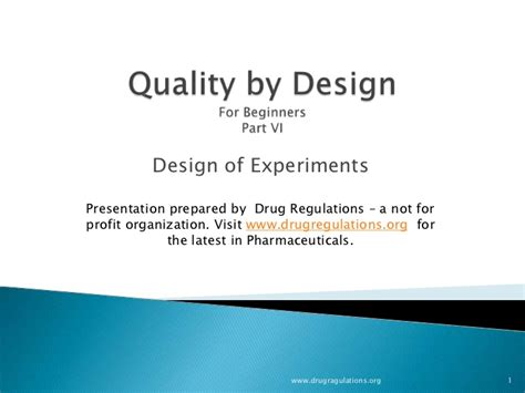 design of experiment doe definition quality by design design of experiments