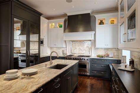 Black Mirrored Bathroom Cabinet by Classic Chicago Elegance Condo Remodel Drury Design