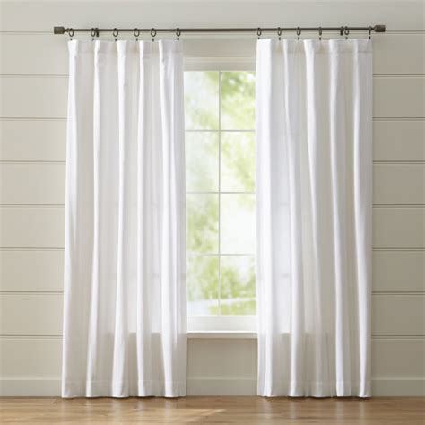 white curtains wallace white curtains crate and barrel