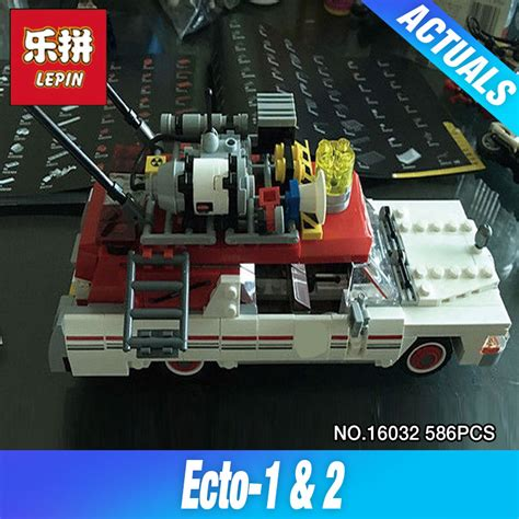 Brick Lepin 16032 Ghostbusters Ecto 1 2016 lepin 16032 586pcs new genuine series the