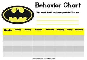 behavior sticker chart template batman behavior charts