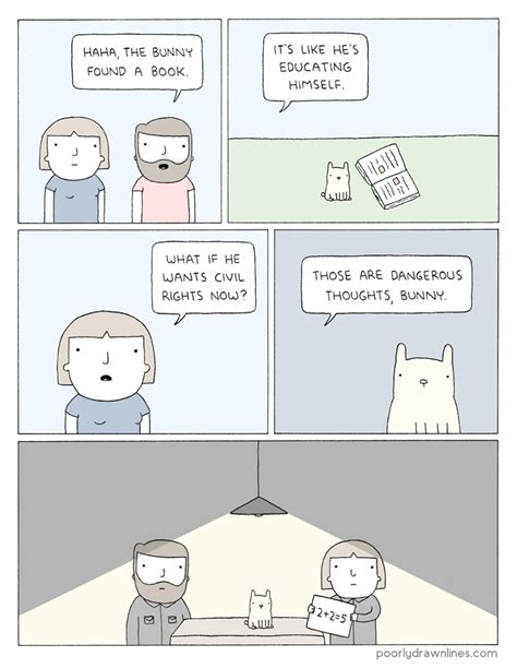 poorly drawn lines good 0147515424 poorly drawn lines bunny has a book