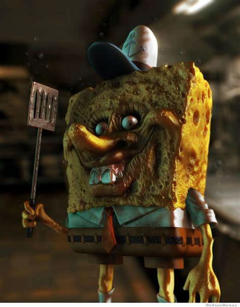 creepy pictures creepy spongebob  real life wtf