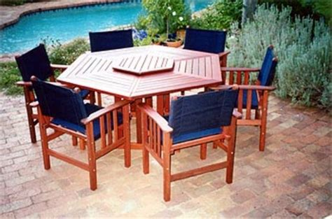 hermitage hexagonal table timber outdoor furniture perth