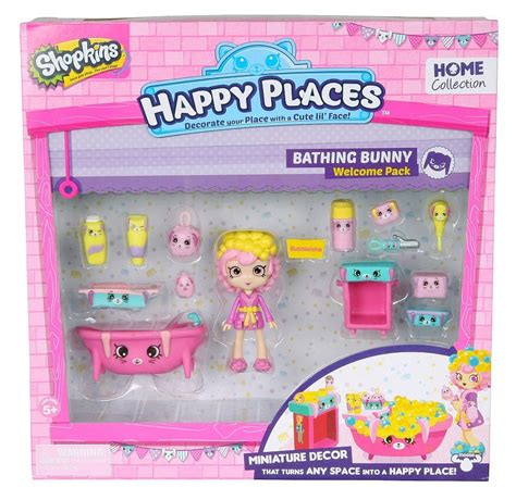 Bathroom Ideas For Girls shopkins happy places bathing bunny set toy at