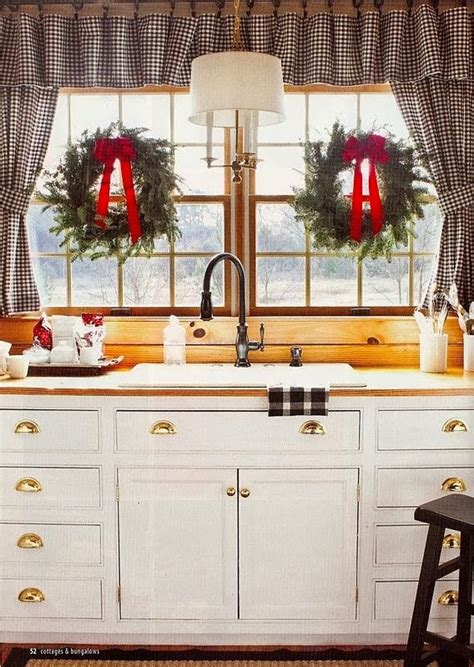 kitchen window decor ideas focal point styling christmas kitchen decorating ideas