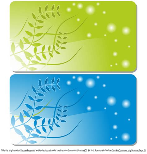 business card templates free vector