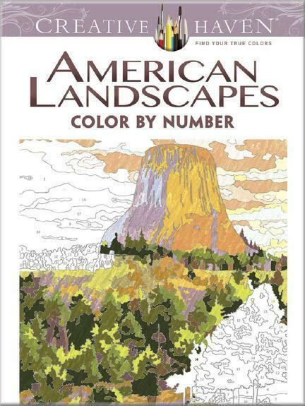 color by number books coloring book american landscapes color by