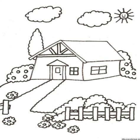 imagenes faciles para dibujar de casas dibujo de una casa en el co dibujos para colorear