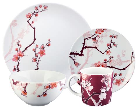 9 Piece Dining Room Sets by Paul Timman Cherry Ink 16 Piece Dinnerware Set Asian