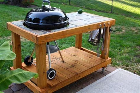 table with grill built in my custom built weber grill table stained with semi