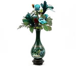 Vase With Feathers Goose Feather Silk Flower Arrangement Unique Home Decor