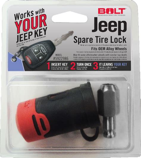 Jeep Spare Tire Lock Bolt Locks By Strattec